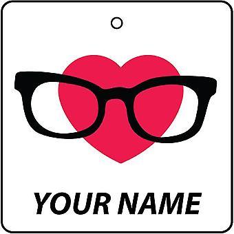 «Ваше имя» ваше имя Nerd любовь автомобилей освежитель воздуха