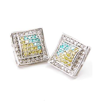 Sterling 925 Silver MICRO PAVE earrings - RELAX 15 mm