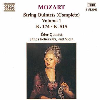W.a. Mozart - Mozart: String Quintets (Complete), Vol. 1 [CD] USA import