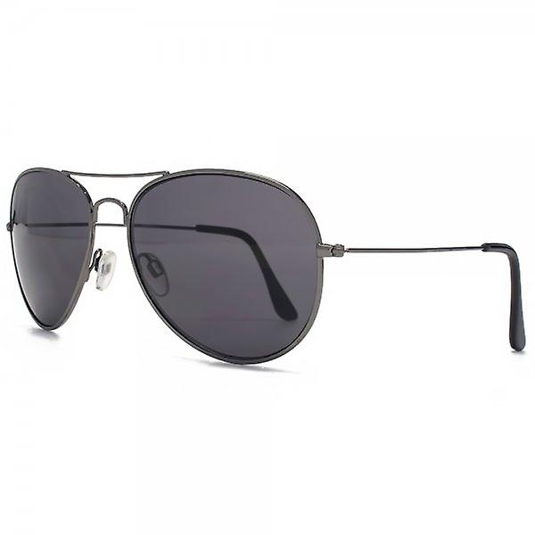 M:UK Portobello Classic Aviator Sunglasses In Gunmetal