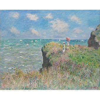Claude Monet - Cliff Walk in Pourville Poster Print Giclee