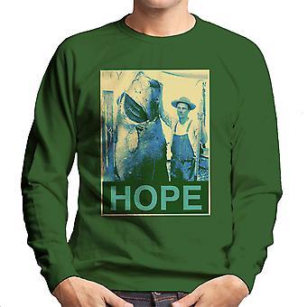 Hope Fishing Shepherd Fairey Style Big Fish Men's Sweatshirt