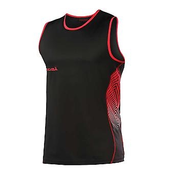 KOOGA rugby training muscle vest [black/red]