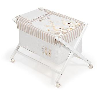 Interbaby Minicuna With White Textile Wood Model Baby Bunny