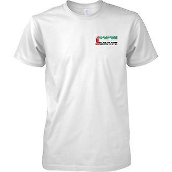 Emirati Arabi Uniti Grunge paese nome effetto bandiera - petto Mens t-shirt Design