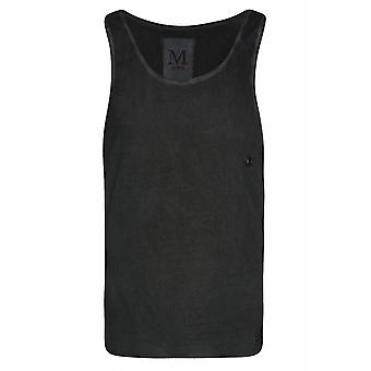 SOMeWEaR Singlet shirt mens tank top black with rivet hole
