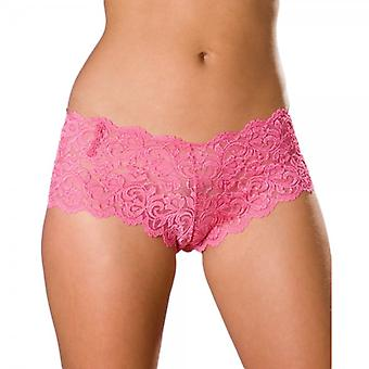 Camille Womens damer Pink Lace boxershorts 10-20