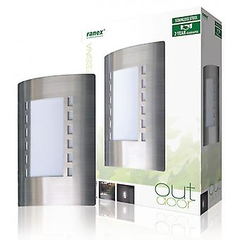 Ranex Outdoor Wall lamp 60 Watt brushed steel