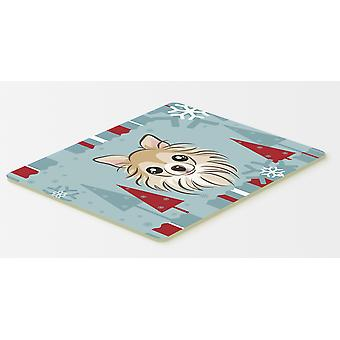 Winter Holiday Chihuahua Kitchen or Bath Mat 20x30
