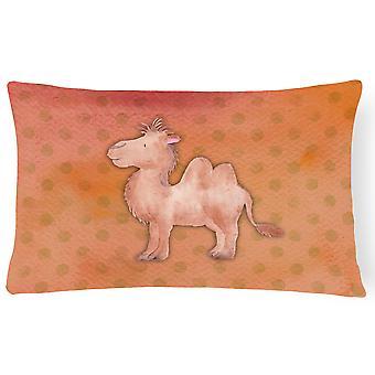 Polkadot Camel Watercolor Canvas Fabric Decorative Pillow