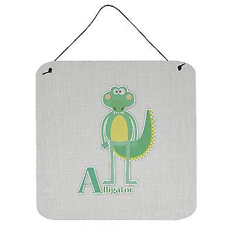 Alphabet A for Alligator Wall or Door Hanging Prints