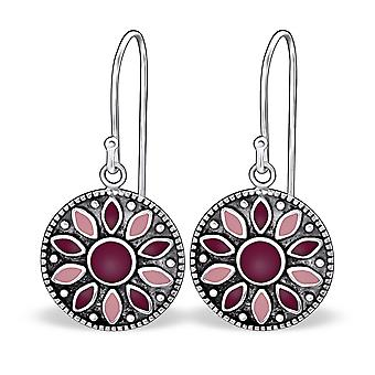Round - 925 Sterling Silver Plain Earrings