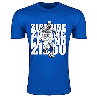 Zinedine Zidane Frankreich Legend T-Shirt (blau)