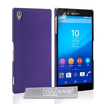 Yousave Sony Xperia Z3 Plus hårda Hybrid Case - lila