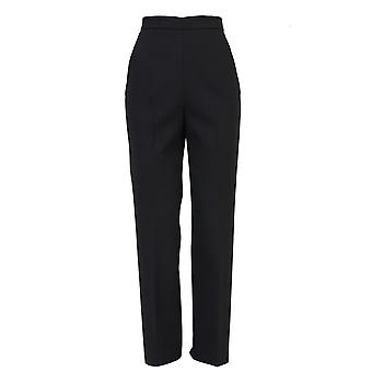 Msgm women's MDP1265299 black polyester pants