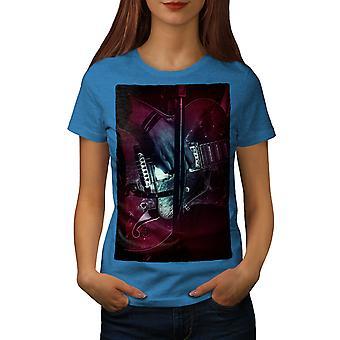 Bass Guitar Artist Women Royal BlueT-shirt | Wellcoda