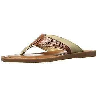 Tommy Bahama Mens Anchors Ashore Leather Slip On Open Toe Flip Flops
