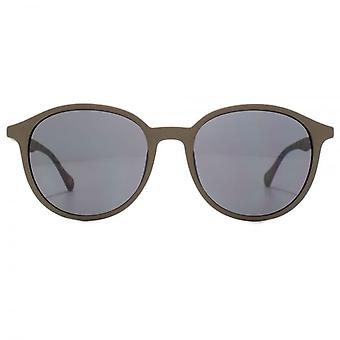 Hugo Boss Contemporary Round Sunglasses In In Brown Havana