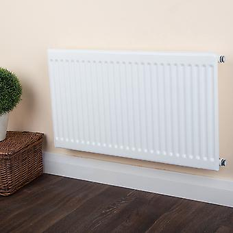 Single Panel Convector Radiator - Type 10 - White Round Top - H900 x W1100mm