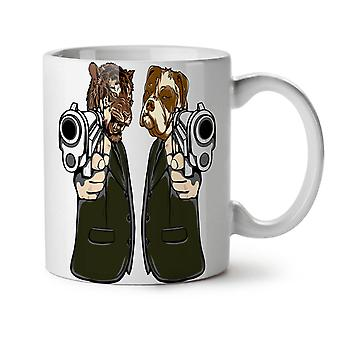 Animal Mafia Gun NEW White Tea Coffee Ceramic Mug 11 oz | Wellcoda