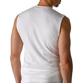 Mey 50437-101 Men's Noblesse White Solid Colour Short Sleeve Top