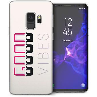 Samsung Galaxy S9 Good Vibes TPU Gel Case – wit
