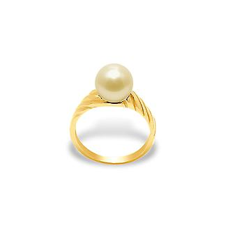 Ring Pearl of Culture of freshwater Golden and yellow gold 375/1000