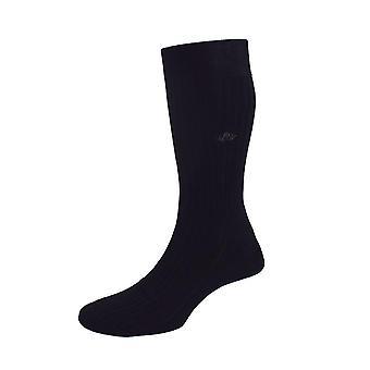 Bomuld Lisle skræddersyet sokker - sort