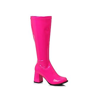 Ellie Shoes E-Gogo-N 3 Gogo Boots Neon With Zipper