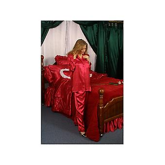 IS-Woman Drawstring Pajama of Lingerie Satin Style 1030