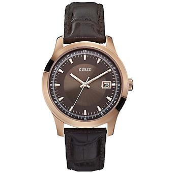 Guess Mens Watch Rose Gold Brown W0250G2