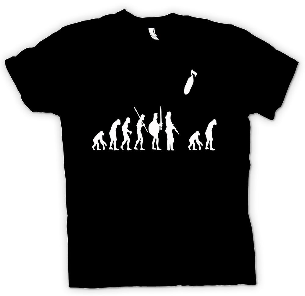 Womens T-shirt - Mans Evolution Of War & Life