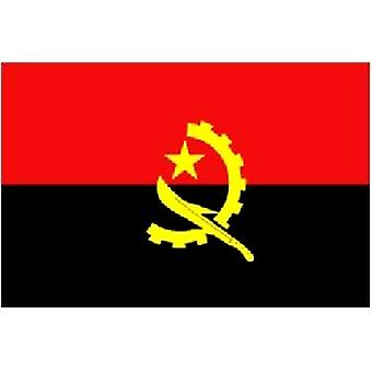 Angolas flagg 5 ft x 3 ft med hull For hengende