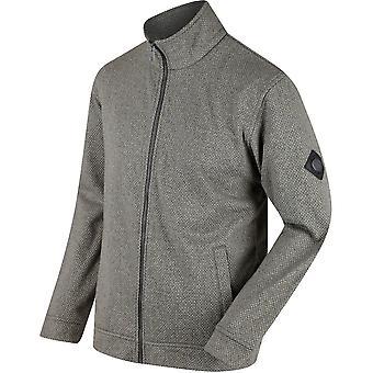 Regatta Herren Lowes durchgehender Reißverschluss zwei Ton Öse Fleece Jacke Mantel