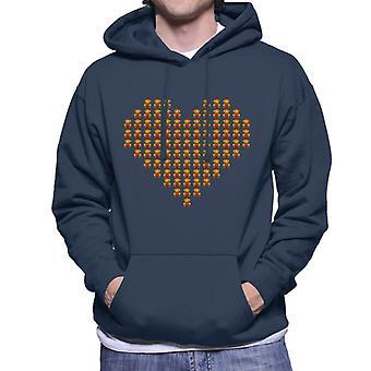 Super Mario Love Heart Herren Sweatshirt mit Kapuze