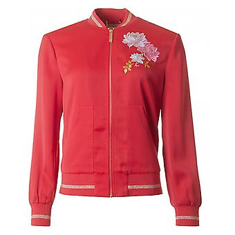 Ted Baker Embroidered Silky Bomber Jacket