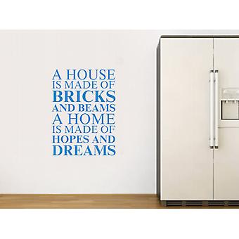 A house is made of Wall Art Sticker - Olympic Blue
