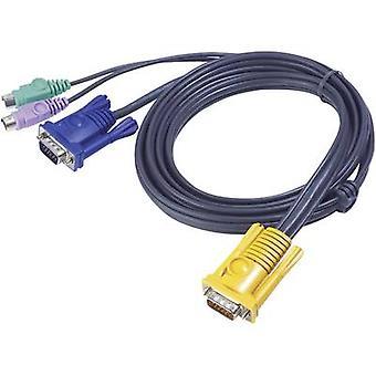 KVM Cable [1x SPHD-15 plug - 2x PS/2 plug, VGA socket] 3 m Black ATEN