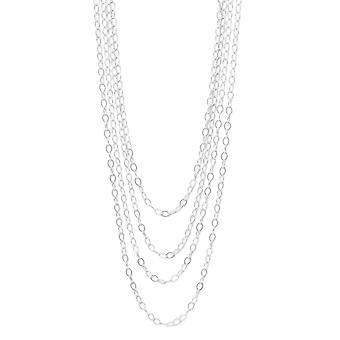 100 polegadas prata esterlina abrir Link cabo corrente colar lagosta fecho encerramento