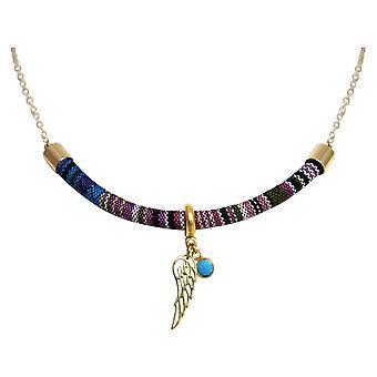 Gemshine - senhoras - colar - pingente - 925 prata chapeado - asteca - BOHO - asas - turquesa - azuis