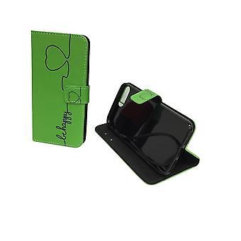 Caja del teléfono móvil de la bolsa para el telefono Apple iPhone 8 plus verde feliz