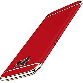 Celular capa capa para Samsung Galaxy A6 2018 para-choques 3 em 1 caso cromo capa vermelha