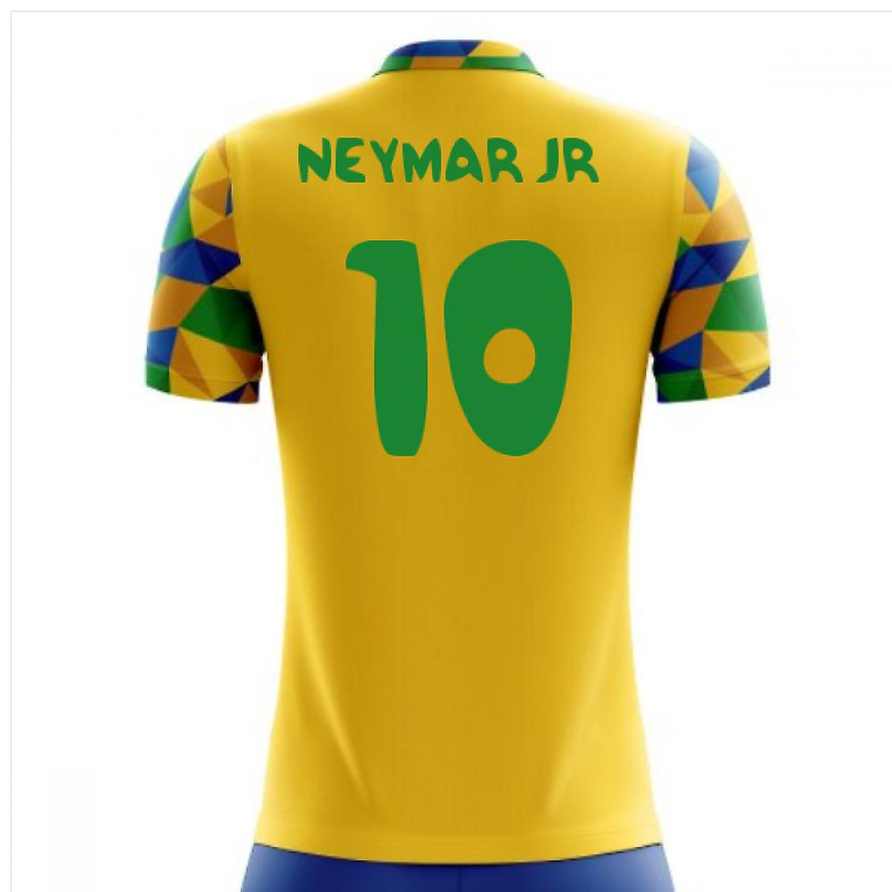 2018-2019 Brazil maillot de foot Home Concept (Neymar Jr 10) - Enfants
