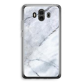 Huawei Mate 10 Transparent Case (Soft) - Marble white