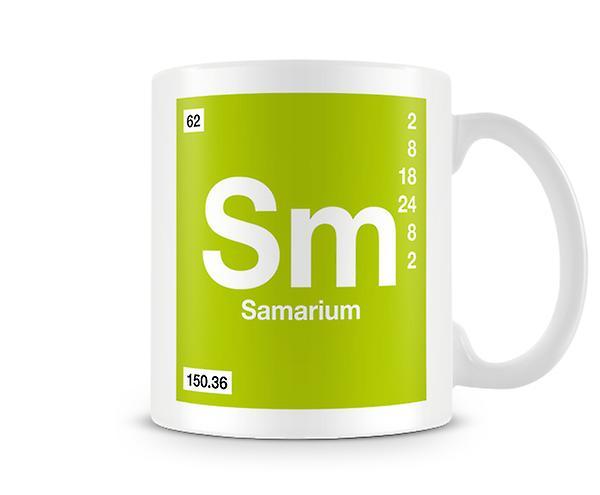 Scientifico stampato tazza con elemento simbolo 062 Sm - samario