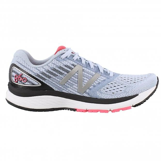860 V9 Womens B Width (STANDARD) Road Running Shoes With Support For Overpronation Ice Blue