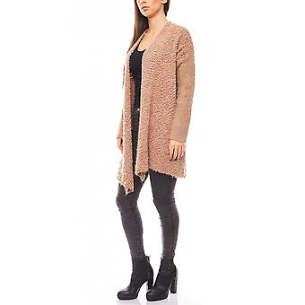 Travel Couture of cozy women's sweater coat Brown
