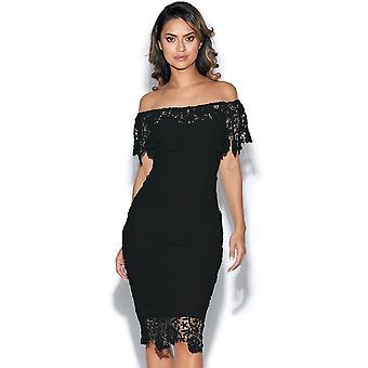 Bardot Crochet Lace Dress