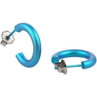 12mm de titanio Ti2 aretes - Martín pescador azul