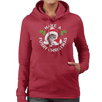 Have A Furry Christmas Cat Women's Hooded Sweatshirt